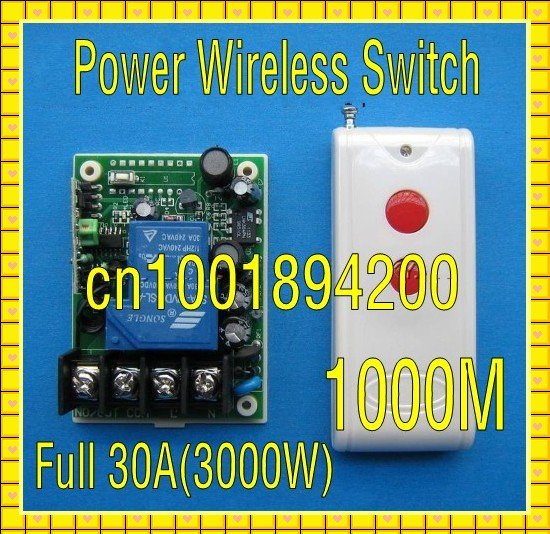 110V RF Wireless Remote Control Switch AC85V-280V Wide Voltage input  Full 3000W Receiver Transmitter Big wiring terminal Stable ac 250v 20a normal close 60c temperature control switch bimetal thermostat
