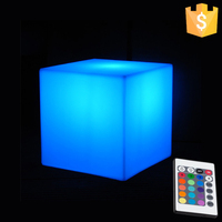 Indoor Furniture 16 Color Changing Glowing Cube Stool D10cm Lithium Battery Free Shipping