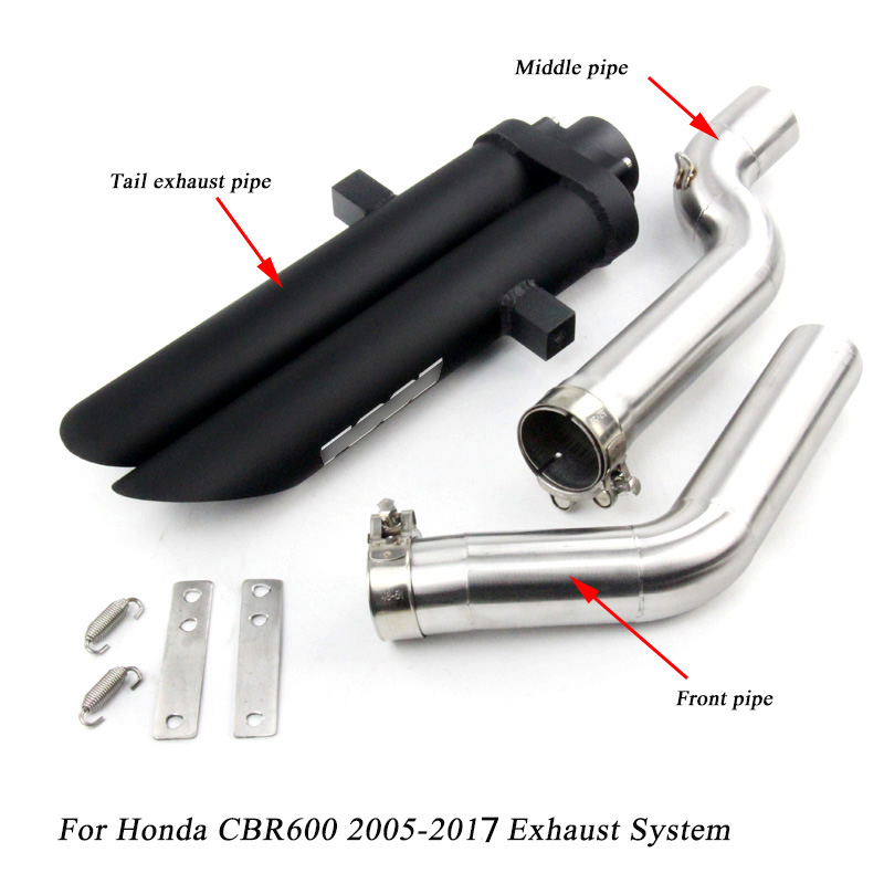 2005 2017 for Honda CBR600 cbr600rr Motorcycle Stainless Steel Front Middle Connecting Pipe Silp On for
