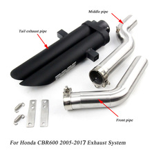 2005-2017 for Honda CBR600/cbr600rr Motorcycle Stainless Steel Front Middle Connecting Pipe Silp On Exhaust Muffler