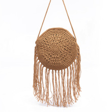 Bohemian Bags for Women 2019 New fashion knitted holiday and leisure small round bags with Tassels single shoulder