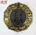 Chinese antique brass door handle furniture accessories YRB352 diameter 14CMfree shipping