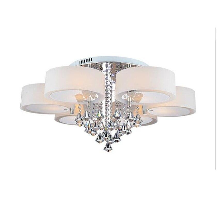 Led lámparas de techo moderna lámpara de cristal Lustre Plafond Abajur luminaria de teto para iluminación de techo sala