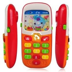 Teléfono de juguete electrónico para niños bebé elephone Juguetes Educativos de aprendizaje máquina de música de juguete para niños (Color al azar)