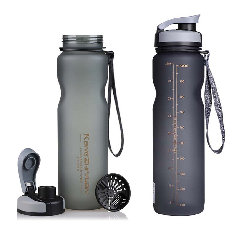 Water Bottle with Straw BPA Free Outdoor Sports Bottles 1000ml High Quality