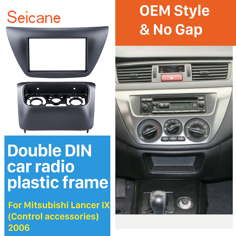 Seicane in Dash refitting Double DIN Car Stereo Radio Fascia Panel Installation Kit Cover Frame For Mitsubishi Lancer IX амортизатор kayba 334420 для lancer ix