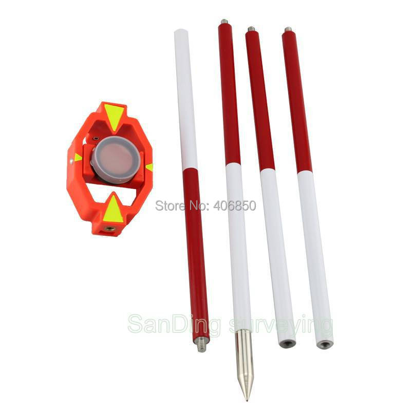 Prism, mini, 102, mini ranging pole, for total station, with target, 1pcs, whole sale and retail