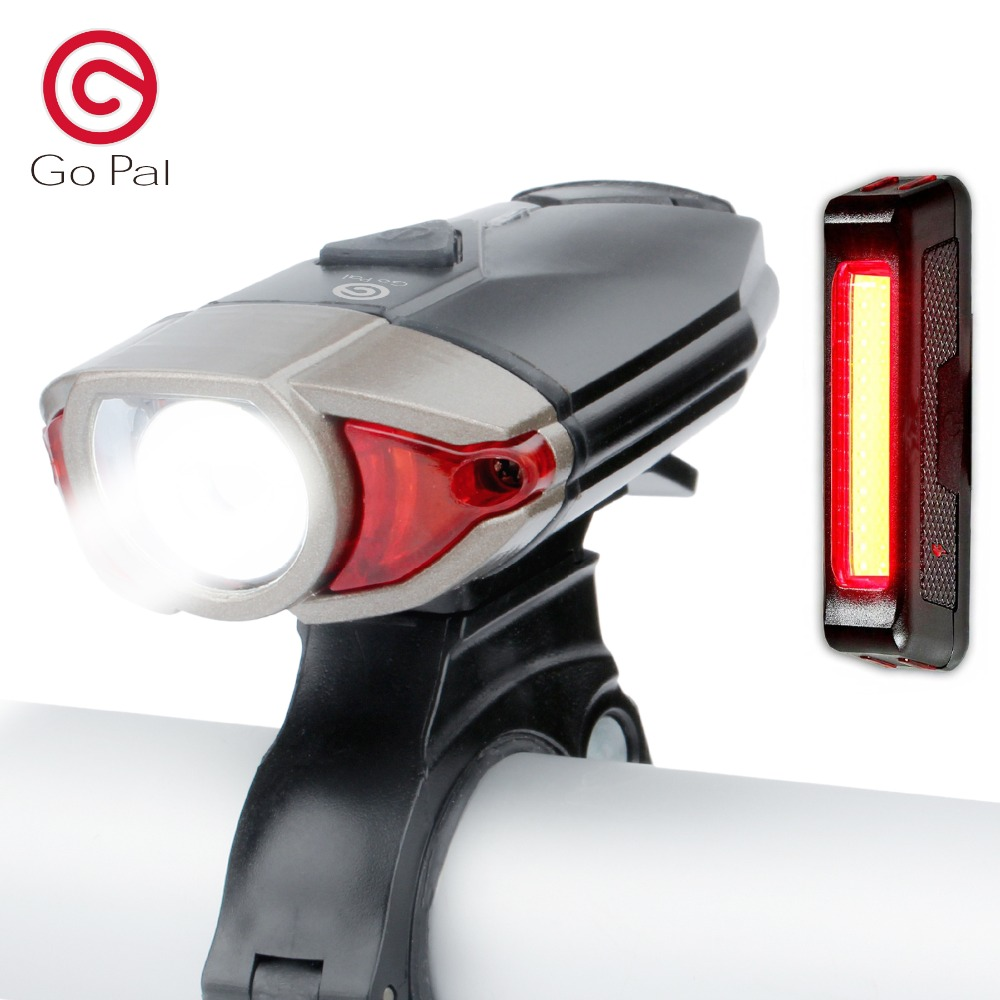 Go Pal SX1 Bicycle Light USB Rechargeable LED Bicycle Front Light with Bicycle Rear Light свитшот print bar lets go pal