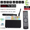 Android 6.0 Caixa De TV 2 GB 16 GB Amlogic S912 Núcleo octa inteligente Mini PC 2.4G/5.8G Wifi Bluetooth 4 K TVbox KODI Profissional CSA93