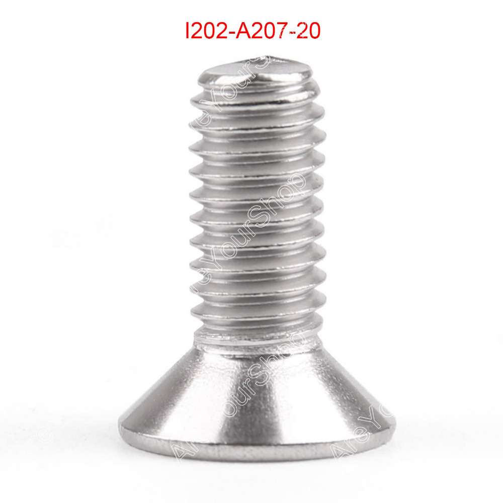 все цены на  M8 20mm Screws Bolts A2 Stainless Steel Flat Head Hex Socket Countersunk Head Screws 5/10/20PCS Wholesale Bolts  онлайн