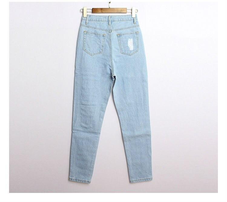 bc6fcb01a82067 2015 vita alta distrutto fidanzato bf jeans strappati, pantaloni in denim  per le donne feminino feminina in 2015 vita alta distrutto fidanzato bf  jeans ...