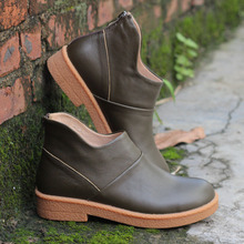 Careaymade-2017 new handmade head layer leather flat bottom short boots,cowhide RETRO art Mori leisure female boots 3019-1