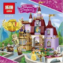 Lepin 384Pcs Beauty Beast Bricks Toys Cinderella Castle Palace Boy for Girl Building Blocks 41067 Toys For Children