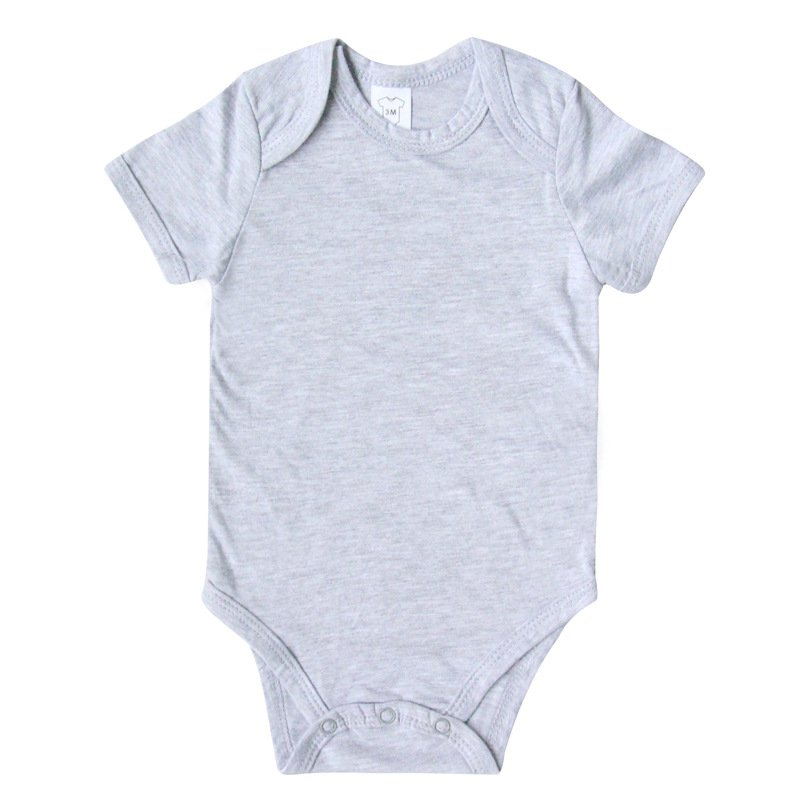 Newborn Baby Kids Boys Girls Romper Cotton Summer Short Sleeve Playsuit Solid Jumpsuit 0-12Months Hot Sale
