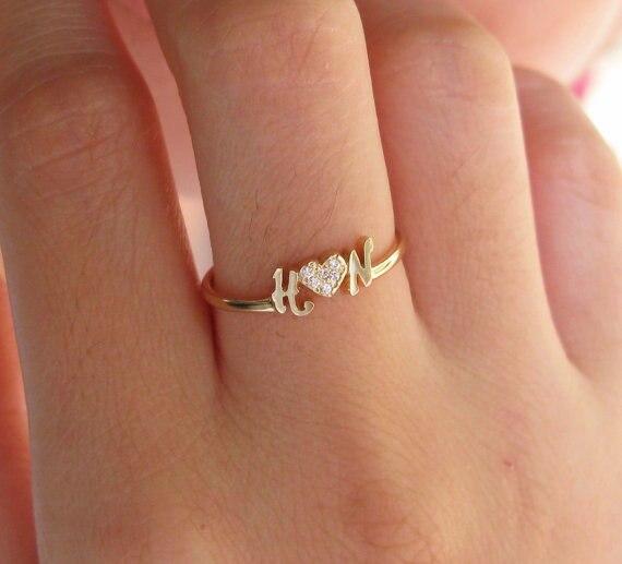 Nom personnalisé anneau 925 bague en argent cadeau de fiançailles bague de fiançailles cadeau de noël personnalisé cadeau d'anniversaire à la main