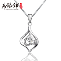 925 Silver Love Necklace Female Fashion Silver Jewelry Heart Necklace Pendant Female Day Gift