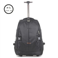 Business Women Computer Trolley Case Backpack Board Chassis 19 21 24 Inch Trunk Soft Case Aluminum