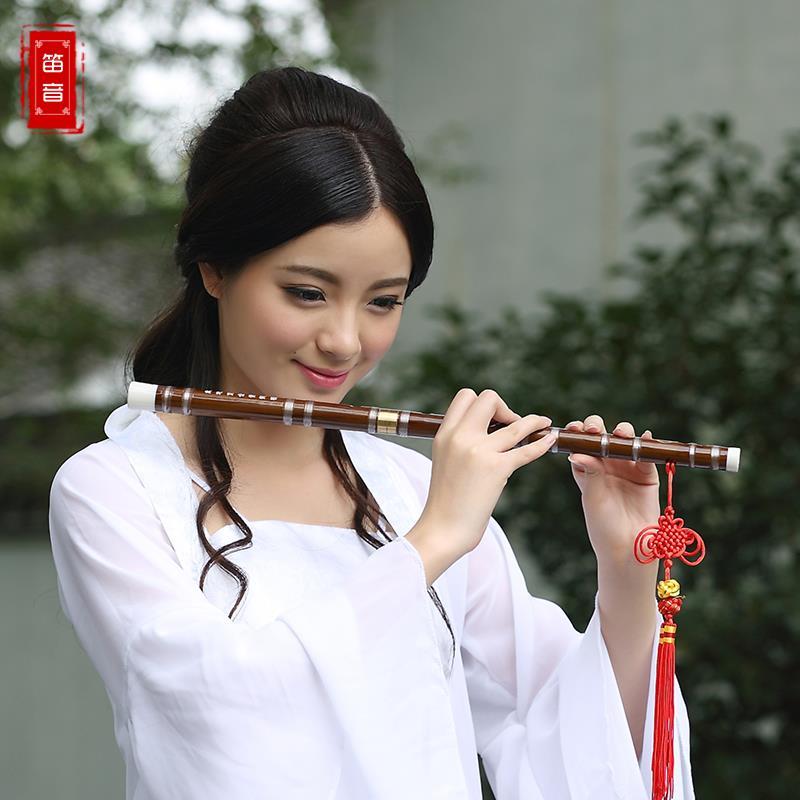 Flauta De Bambú chino 3 Colores Nudo Chino Dizi Instrumentos Musicales Flauta Tr