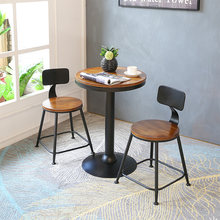 Modern Simple Bar Chair and Table PU and Iron Art Coffee Shop Luxurious Style High Stool Stool Desk Chair Set Dining Table Chair(China)
