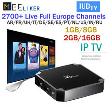 X96mini with 1year IUDTV iptv 3 6 Months Arabic Spain French Germany Italy Netherland Sweden Portugal US channels for x96 tv BOX(China)