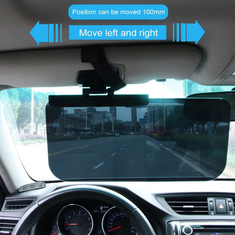 Car Window Shades Cars Anti-Glare Sun Visor Anti-glare Drivers Clip on Car Visor Sunshade Extender Anti-Dazzle HD Clear View Vision UV Blocker 180 Degrees Rotating for Drivers