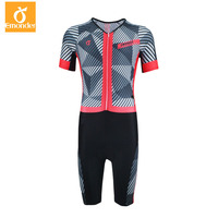 EMONDER Triathlon Suit Men Pro Team Cycling Clothing Skinsuit Jumpsuit Bike Jersey Sets Sport for Running Swimming Ropa Ciclismo