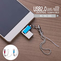 New 2 in 1 Micro USB+USB Mini Micro mobile phone U disk metal rotating USB 2.0 U disk for Smartphone Tablet with OTG function