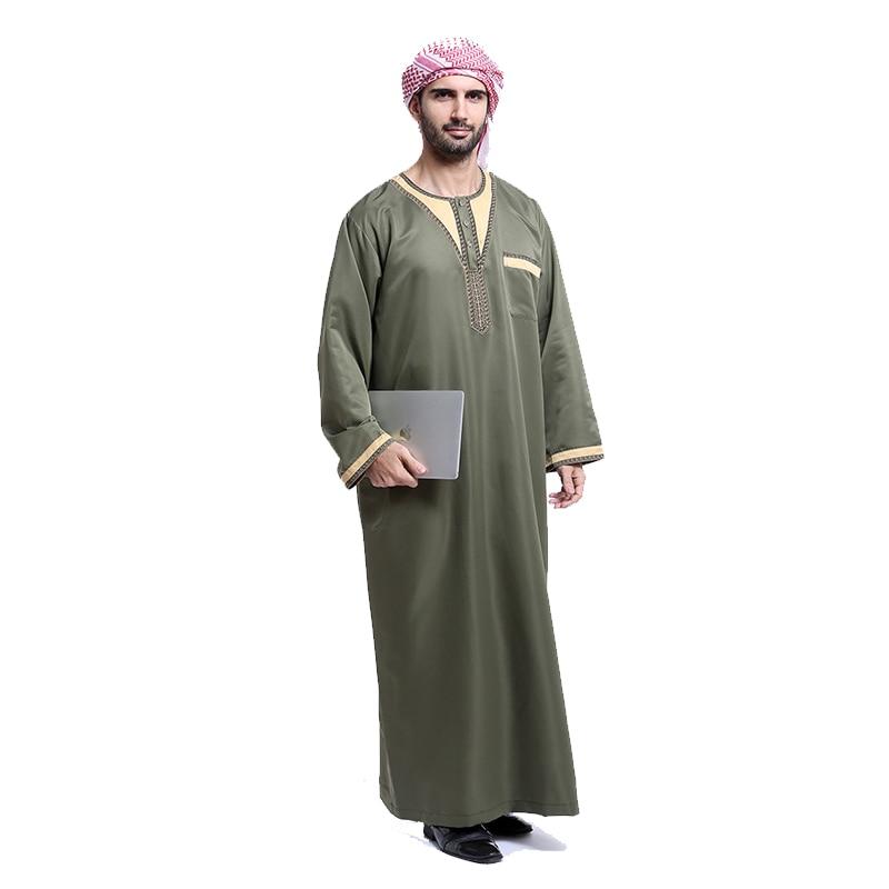 Fashion muslim Men arabic Jubba Thobe islamic clothing