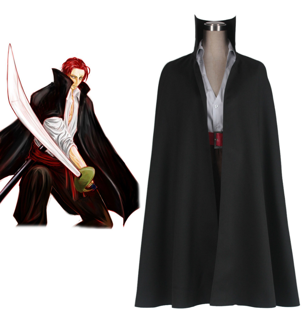 "Free Shipping One Piece ""Red-Haired"" Shanks Two Years Ago Anime Cosplay Costume"