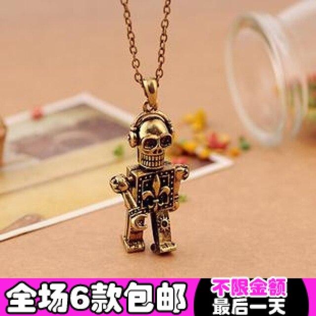 4078 accessories vintage punk skull earphones skull necklace