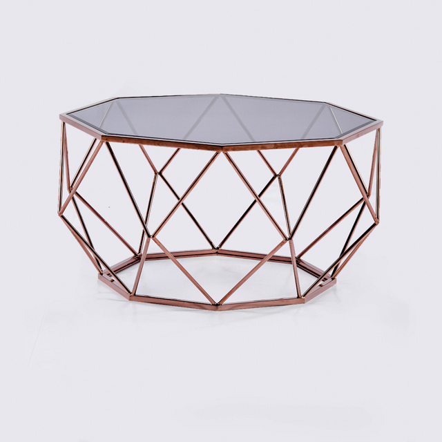 Merveilleux Creative Design Modern Stainless Steel Metal Material And Glass Top Coffee  Table