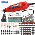 BDCAT 180 W eléctrico Dremel grabado Mini taladro máquina de pulido de velocidad Variable herramienta rotativa con 186 piezas de accesorios