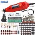 BDCAT 180 W eléctrico Dremel grabado Mini taladro pulidor herramienta giratoria de velocidad Variable con 186 piezas accesorios de herramientas eléctricas