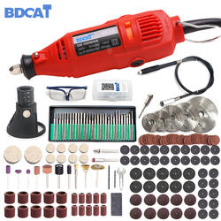 BDCAT 180 Вт электрический Dremel гравировка мини дрель полировальная машина переменная скорость роторный инструмент с 186 шт. механические