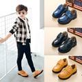 2017 nuevos niños casual shoes niños cuero genuino shoes kids vestido formal ocasiones material de piel de vaca de primavera otoño negro