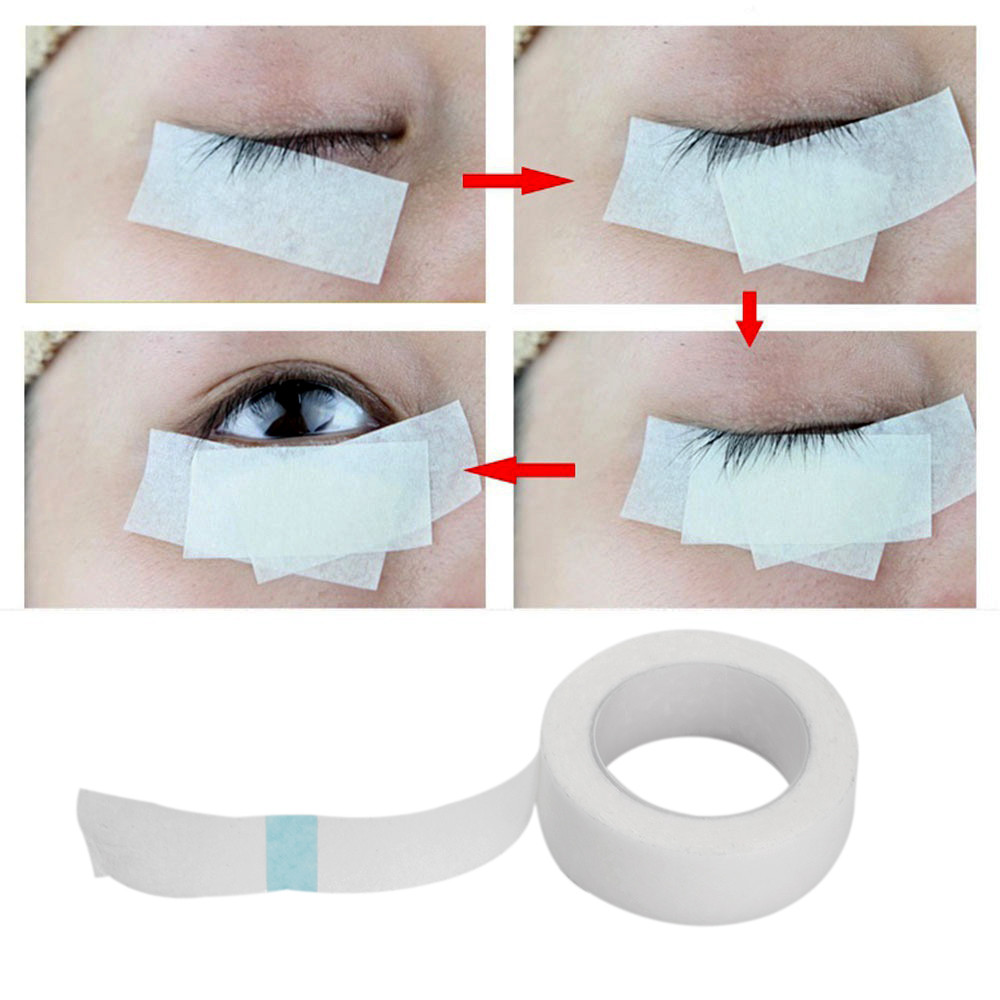 Professional 1 Roll Eyelash Extension Lint Free Eye Pads White Silk Paper Under Patches Tool for False Lashes Patch Medical Tape