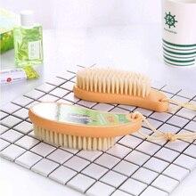 2pcs Plastic Magic Clean Brush Reusable Self-Cleaning Soft Bristleles Set Remover Fur Scrub Clothes Bag Dust Brusher