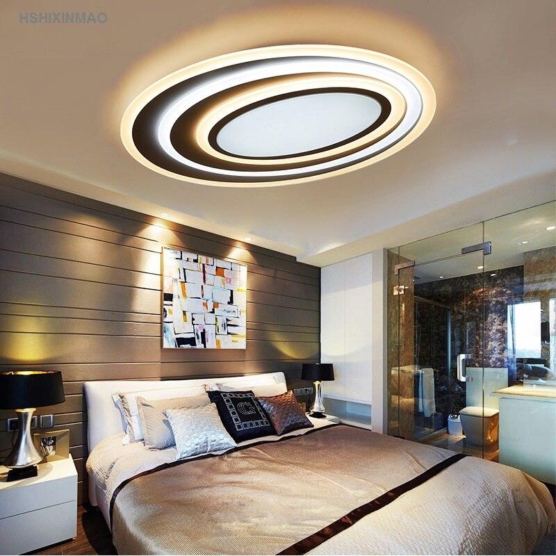 US $117.0 25% OFF|Postmodernen Acryl Kunst Well Led deckenleuchte  Wohnzimmer Schlafzimmer Studie Oval ultradünne Dimmen deckenleuchten AC110V  240V in ...