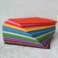 40 шт. нетканые материалы материал цветной войлок иглой импортные цветные нетканые материалы Diy войлочная ткань 30*30