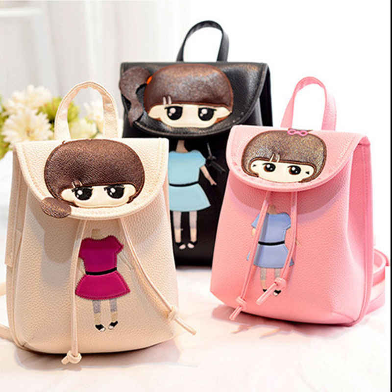 Women Cartoon PU Leather Backpack New 2016 Korean School Bags For ...