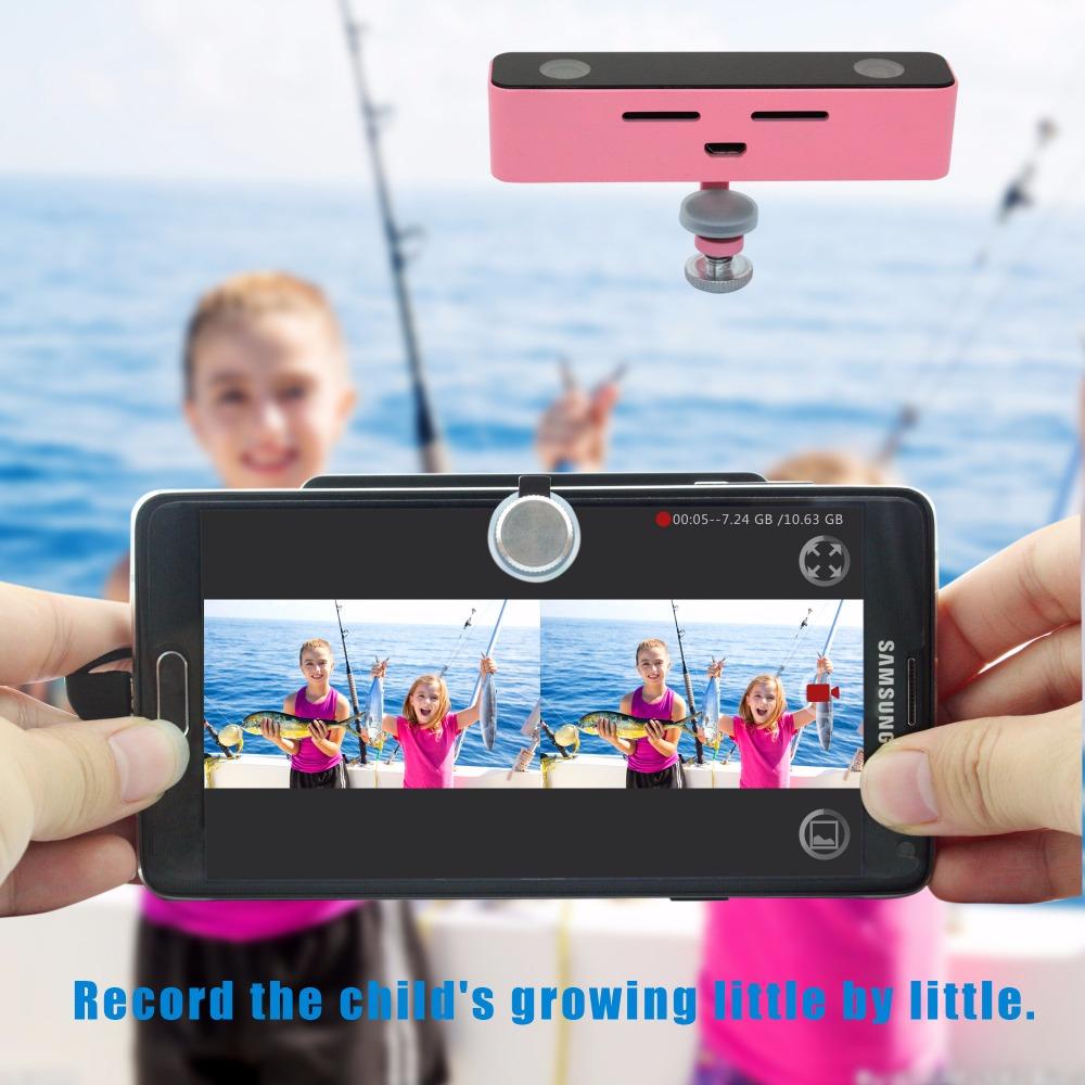 pink 3d vr camera