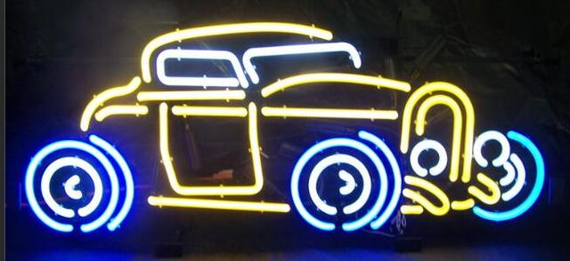 Custom Corvette Car Glass Neon Light Beer Bar 5