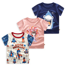 3 Pcs/Pack Cotton Baby T Shirt For Boys Girls T-Shirts Summer  Infant Clothes Newborn Tees Cartoon Toddler Tops Kids clothing