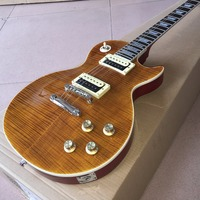 slash electric guitar burst tiger hot wholesale high quality custom guitars Real photo shows