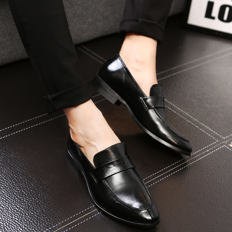 hot sale online many fashionable affordable price men shoes slip on loafers formal mariage wedding dress shoes men ...