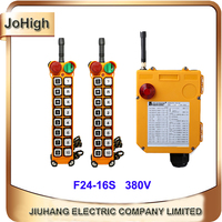 Factory Supply Single Speed Industrial remote controller Hoist Crane Lift 2 transmitters 1 receiver 16 buttons
