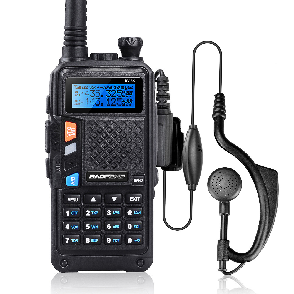 BAOFENG UV-5X Mark II Radio 2000mAH Battery Capacity UHF+VHF Dual Band Handheld Walkie Talkie With FM Function