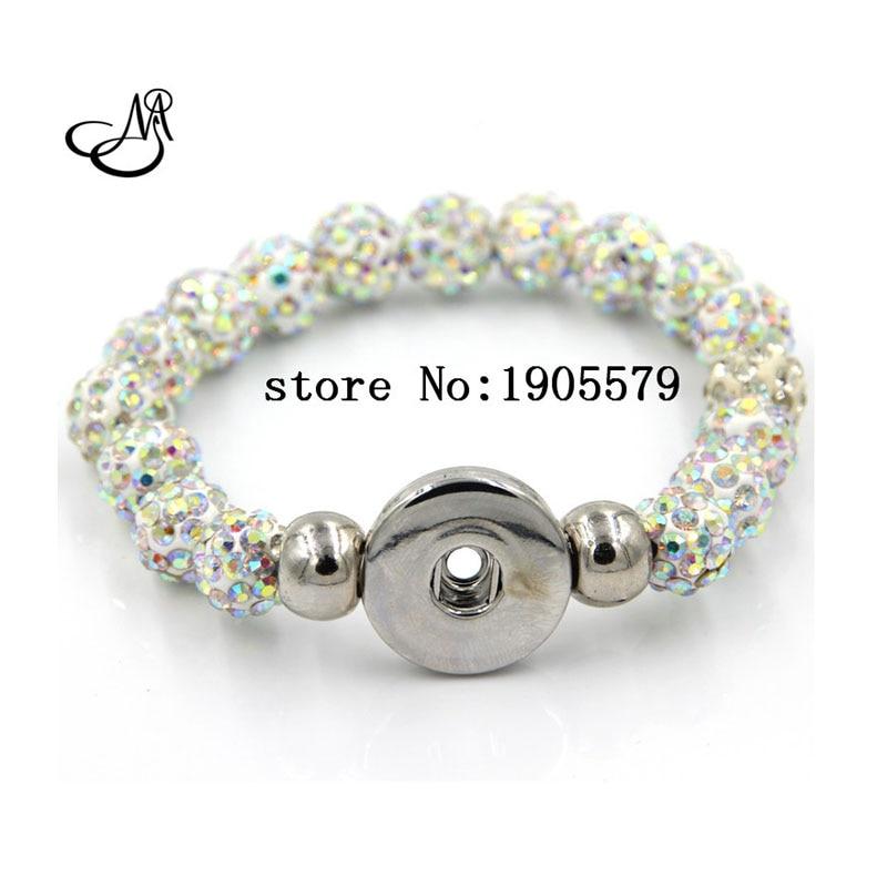 18mm Snap Button Bracelet Dark Blue Rhinestones Beads Snap Charms Bracelet  For DIY Women s  Child Gifts SJSB1313-in Charm Bracelets from Jewelry ... e12f636a3d3e