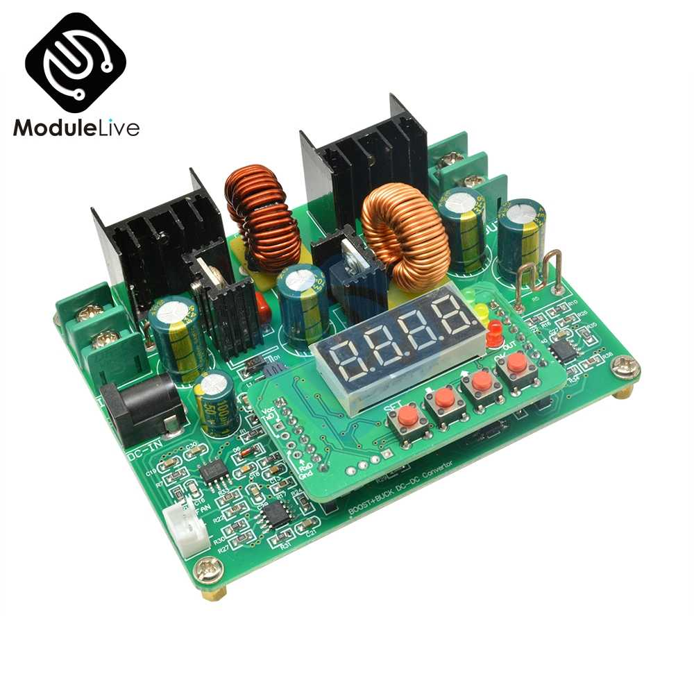DC-DC 38V Step-Up Step-Down Digitale Module Boost Buck Converter Zonne-energie Opladen