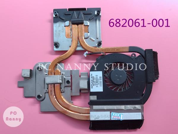 Prix pour Véritable ordinateur portable refroidisseur pour HP dv6 dv7 DV6-7000 DV7-7000 radiateur de refroidissement avec ventilateur 682061-001